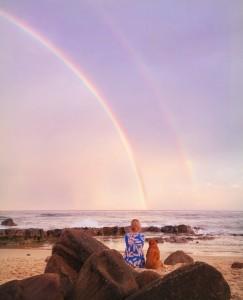 Nellie and rainbow